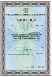 Лицензия на осуществление образовательной деятельности_1 с