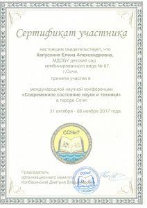 Сертификат Капускина Е.А. 31.10.-08.11.